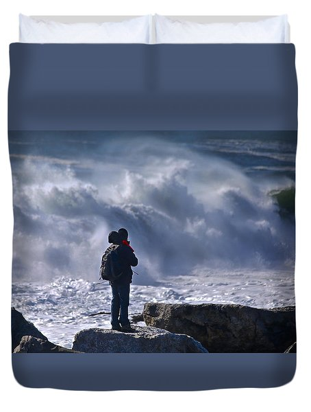 Surf Watcher Duvet Cover