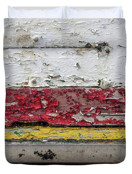Surface With Peeling Paint Duvet Cover
