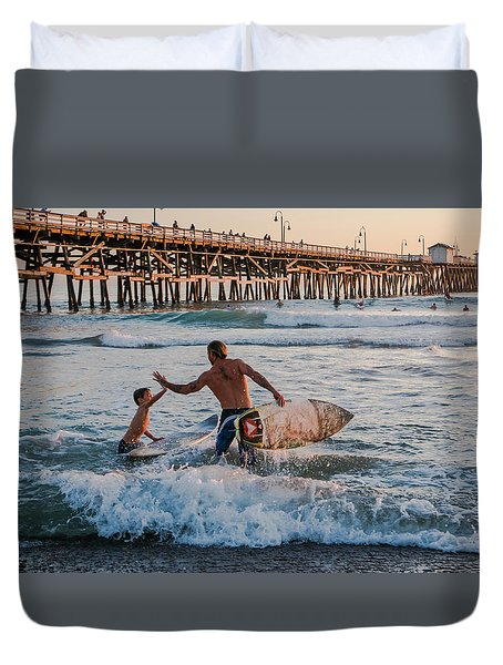 Surfboard Inspirational Duvet Cover