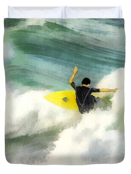 Surfer 76 Duvet Cover by Francesa Miller
