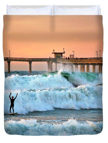 Surfer Celebration Duvet Cover