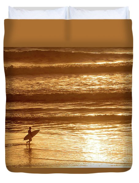 Surfer Duvet Cover by Delphimages Photo Creations