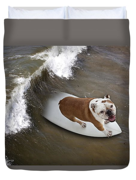 Surfer Dog Duvet Cover