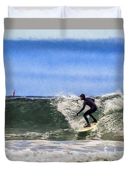 Surfer Dude Duvet Cover by Billie-Jo Miller