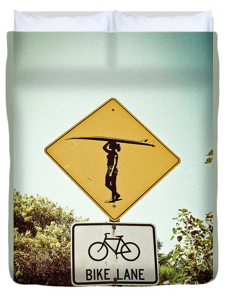 Duvet Cover featuring the photograph Surfer Girl by Ana V Ramirez