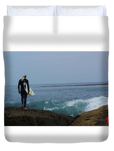 Surfer Ready Duvet Cover