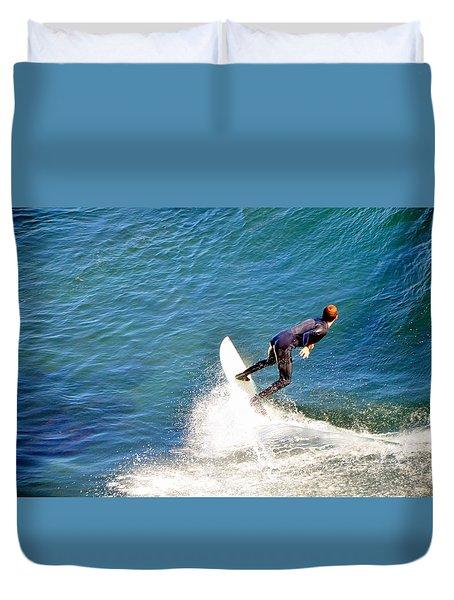 Surfer, Steamer Lane, Santa Cruz, Series 19 Duvet Cover
