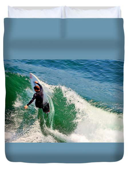 Surfer, Steamer Lane, Series 18 Duvet Cover