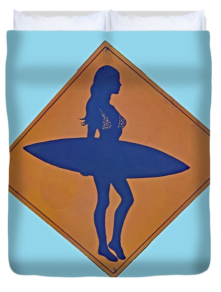 Surfer Xing Duvet Cover