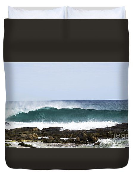 Duvet Cover featuring the photograph Surfers Point by Angela DeFrias