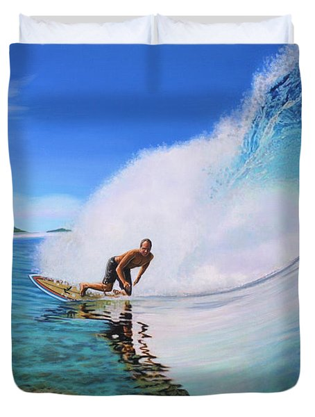 Surfing Dan Duvet Cover