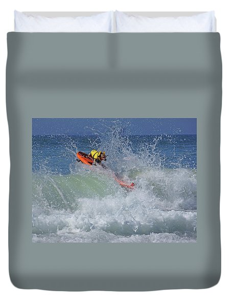 Surfing Dog Duvet Cover