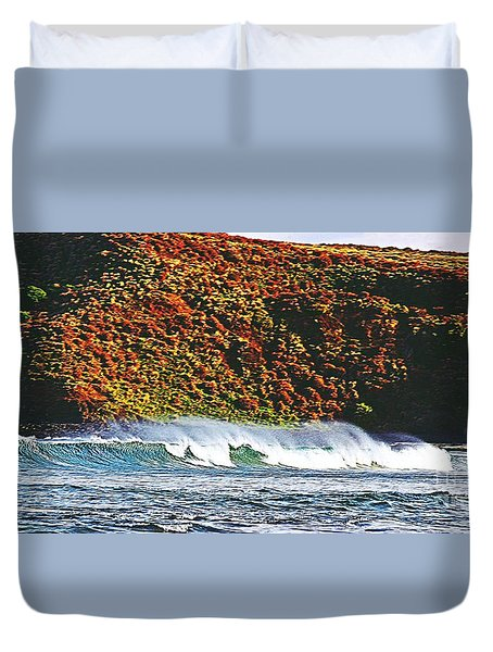 Surfing The Island Duvet Cover