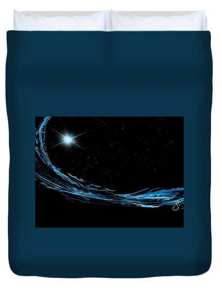 Surfing The Stars Duvet Cover