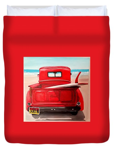 Surfn Duvet Cover