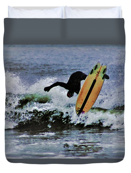Surfs Up Duvet Cover by B Wayne Mullins
