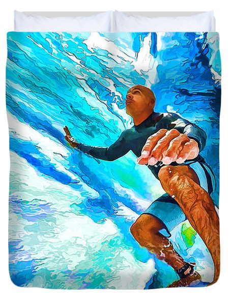 Surf's Up With Kelly Slater Duvet Cover by ABeautifulSky Photography