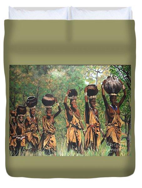 Blaa Kattproduksjoner        Surma Women Of Africa Duvet Cover