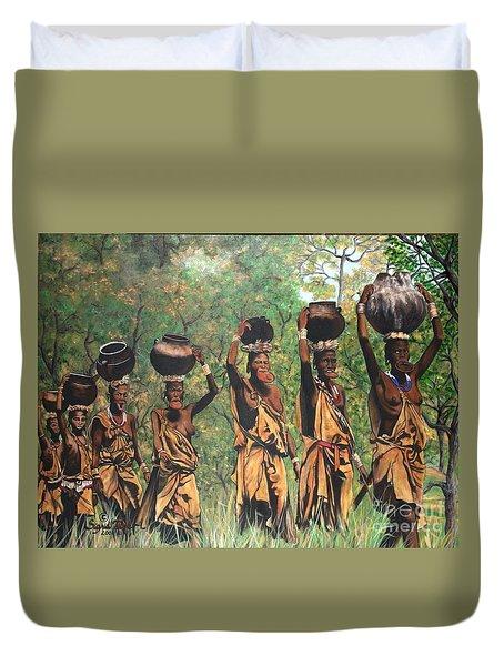 Surma Women Of Africa Duvet Cover
