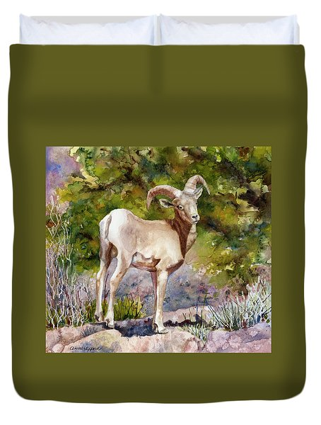 Surprised On The Trail Duvet Cover