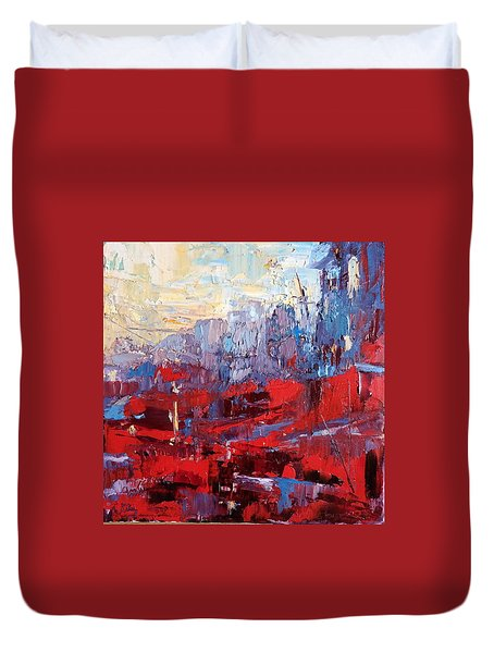 Surreal City Duvet Cover by NatikArt Creations