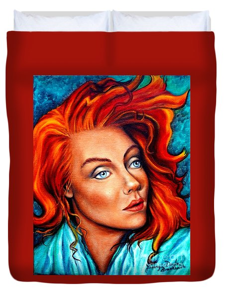 Surreal Crimson And Silk Duvet Cover