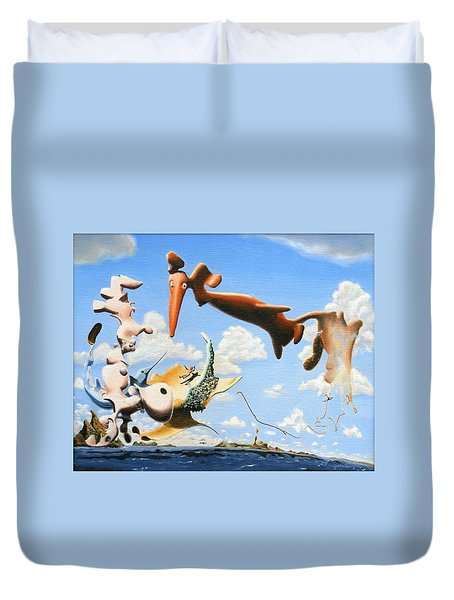 Surreal Friends Duvet Cover by Dave Martsolf