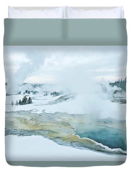 Duvet Cover featuring the photograph Surreal Landscape by Gary Lengyel
