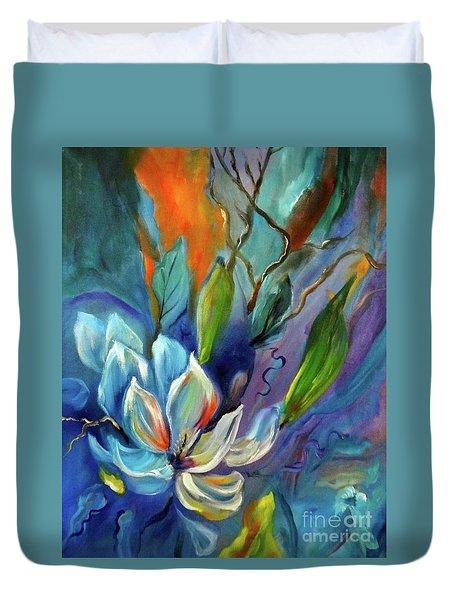 Surreal Magnolias Duvet Cover