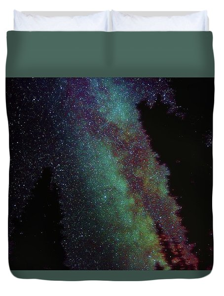 Surreal Milky Way Duvet Cover by Jeremy Tamsen