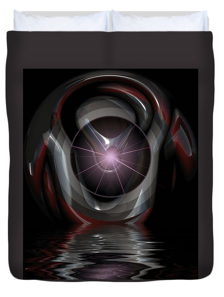 Surreal Reflections Duvet Cover by Mario Carini