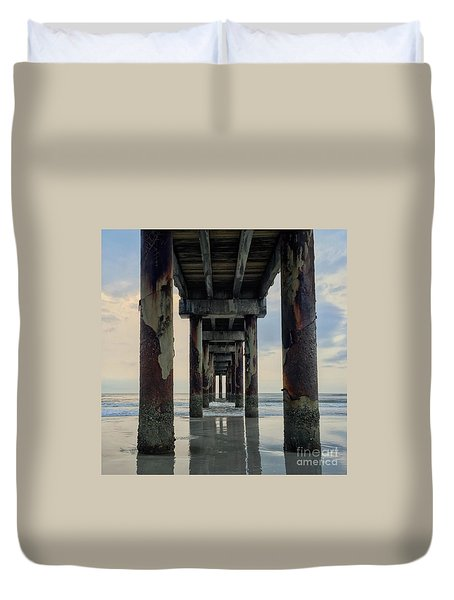 Surreal Sunday Sunrise Duvet Cover by LeeAnn Kendall