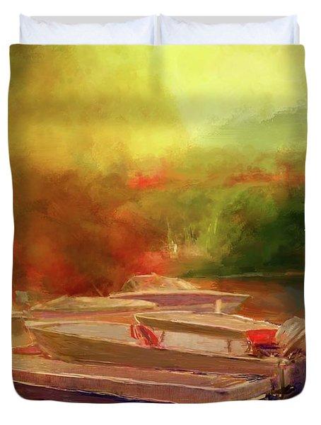 Surreal Sunset In Spanish Duvet Cover