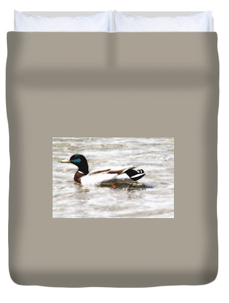 Surrealism Duck Duvet Cover