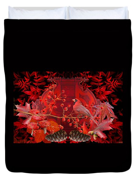 Surrealism Of Nature Autumn Colors Duvet Cover by Suzanne Powers