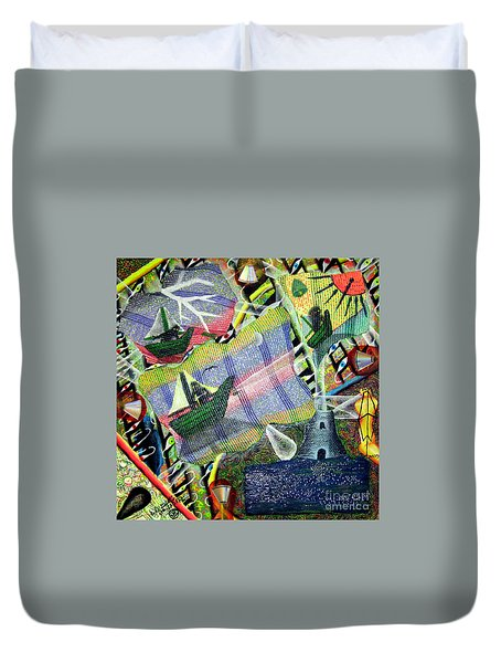Surrealism Of The Souls Duvet Cover by Luke Galutia