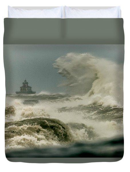 Duvet Cover featuring the photograph Surrender by Everet Regal