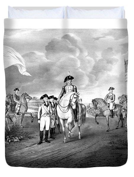Surrender Of Lord Cornwallis At Yorktown Duvet Cover