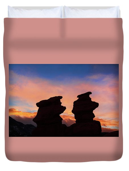 Surrender To The Infinite, Unbounded, Pure Consciousness  Duvet Cover