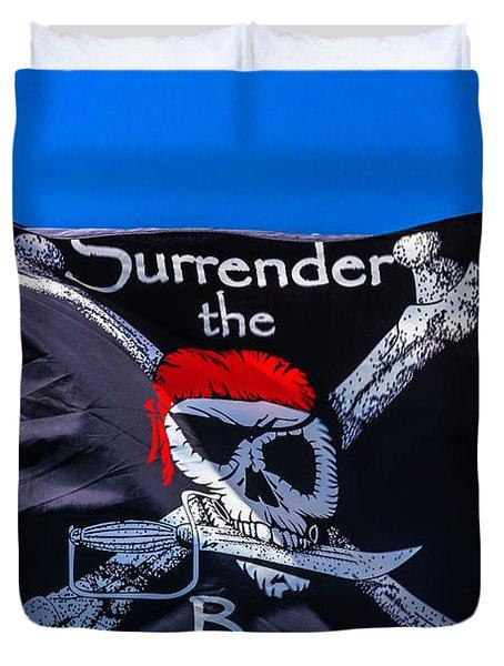Surrenderthe Booty Flag Duvet Cover