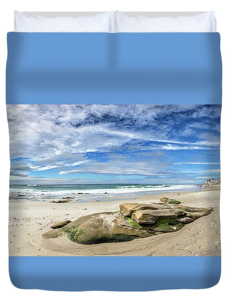 Duvet Cover featuring the photograph Surrounded By Beauty by Peter Tellone