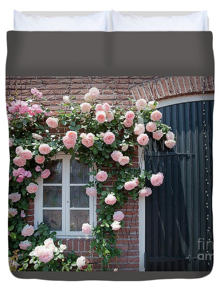 Surrounded By Roses Duvet Cover