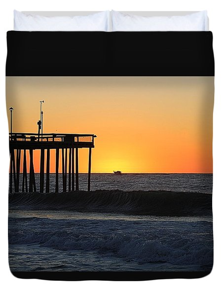 Duvet Cover featuring the photograph Surrounded By Sunrise by Robert Banach