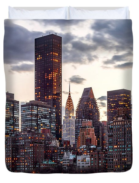 Surrounded By The City Duvet Cover by Az Jackson