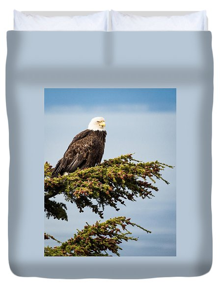 Surveying The Treeline Duvet Cover