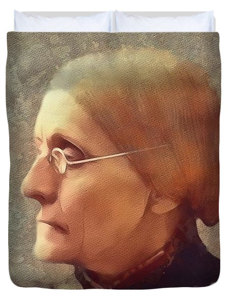 Susan B. Anthony, Suffragette Duvet Cover