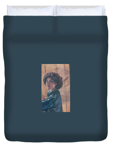 Susan Berger - Suzn Smith - Self Portrait Duvet Cover