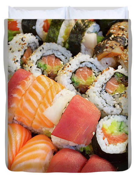 Sushi Dish Duvet Cover