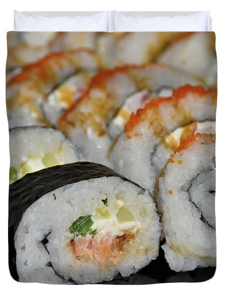 Sushi Rolls From Home Duvet Cover