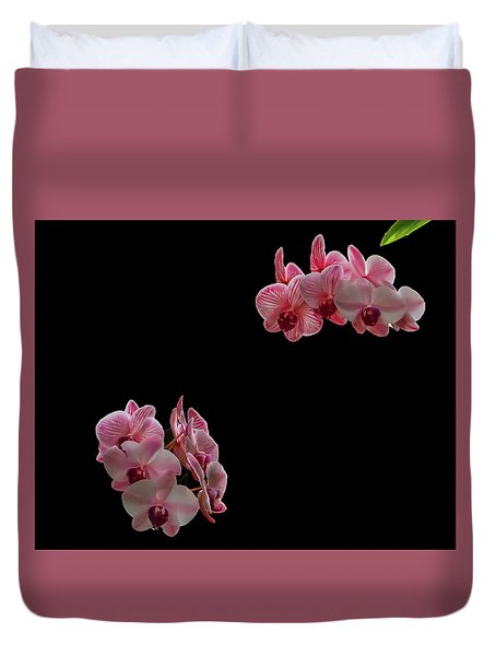 Suspended Orchids Duvet Cover